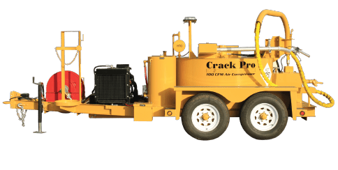 Crack Filling equipment, Crack Sealing equipment, Crack Filling Melter Applicator, Oil-jacketed Crack Filling Equipment, Crack filling kettles, 260 gallon machine, SealMaster