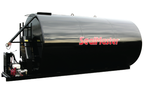 Bulk storage tank for Sealcoat. Sealcoat bulk tanks. Agitated storage tanks for sealcoat