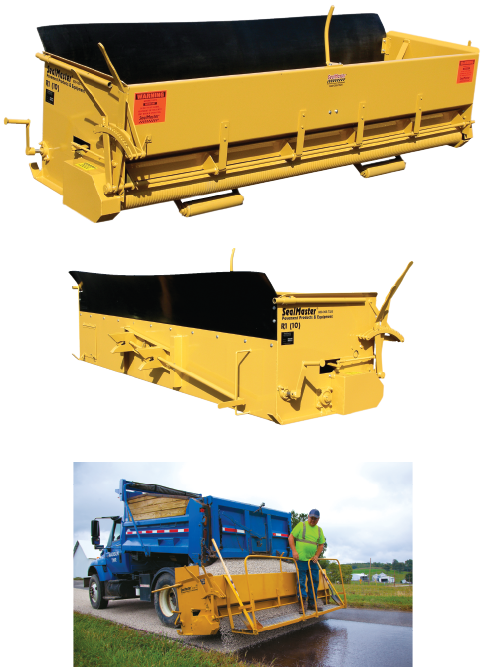 Aggregate Spreader Box. Aggregate Chip Spreader. R-1 Aggregate Spreader. Tailgate chip spreader. SealMaster