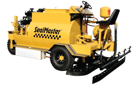 Sealcoat Buggy, Sealcoating Equipment, Self-propelled sealcoat equipment, ride on sealcoating machine, sealcoat squeegee machine, Dual spray and squeegee machine