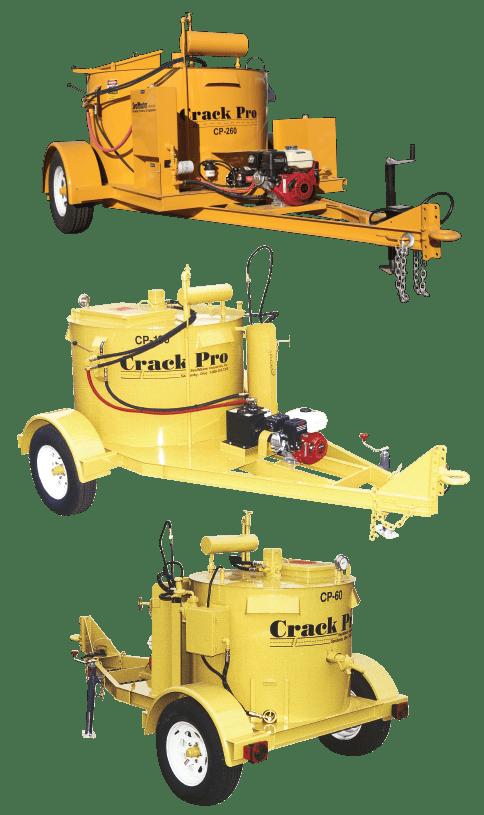 Crack Filling equipment, Crack Sealing equipment, Crack Filling Melter, Oil-jacketed crack filling Equipment, Crack filling kettles, Gravity Flow Melter, 260 gallon machine, SealMaster