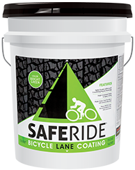 Safe Ride Bicycle Lane Coating Pail