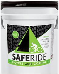 Safe Ride Bicycle Lane Coating Pail