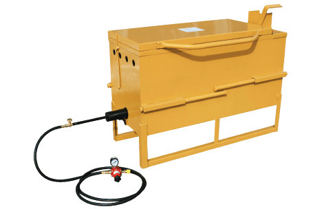 Crack Filling equipment, Crack Sealing equipment, Crack Filling Melter, Direct-Fire Crack Filling Melter, Crack filling kettles, 30 gallon melter, SealMaster