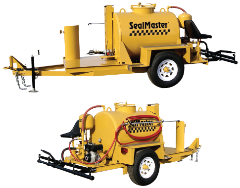 Asphalt Distributor. Heated Asphalt distributor. Tack coat sprayer. TR 300 Heated asphalt distributor trailer. SealMaster.